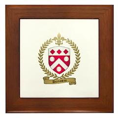 DUROSSEAU Family Crest Framed Tile
