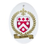 DUROSSEAU Family Crest Oval Ornament