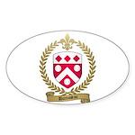 DUROSSEAU Family Crest Oval Sticker