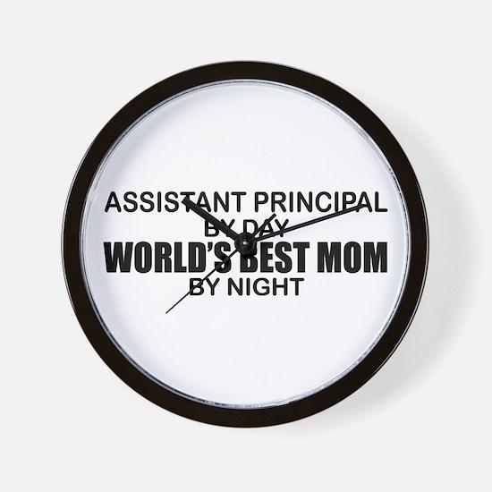 World's Best Mom - Asst Principal Wall Clock