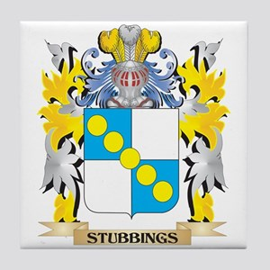 Stubbings Family Crest - Coat of Arms Tile Coaster