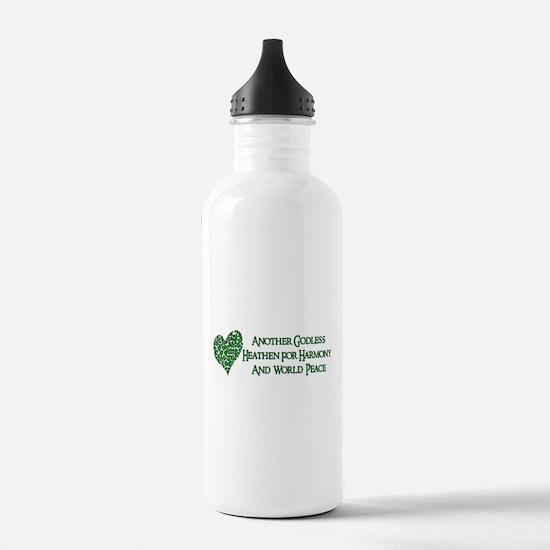 Godless For World Peace Water Bottle