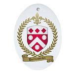 DUROUSSEAUX Family Crest Oval Ornament