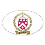 DUROUSSEAUX Family Crest Oval Sticker