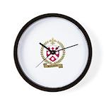 DUROUSSEAUX Family Crest Wall Clock