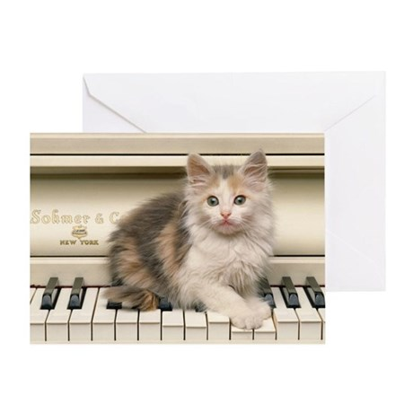 PIANO KITTY Greeting Card
