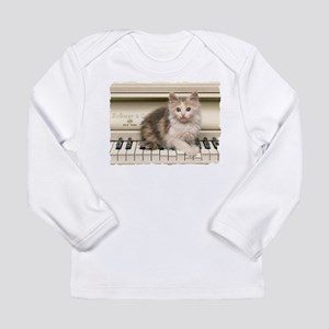 PIANO KITTY Long Sleeve Infant T-Shirt