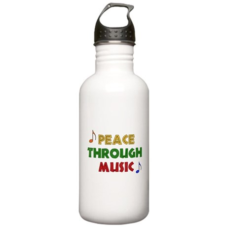 Peace Through Music Stainless Water Bottle 1.0L