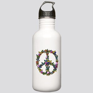 Butterflies Peace Sign Stainless Water Bottle 1.0L