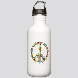 Peace Flowers Stainless Water Bottle 1.0L