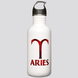 Red Aries Symbol Stainless Water Bottle 1.0L