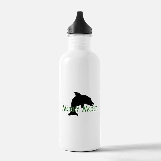 Merry Meet Spirit Dolphin Water Bottle