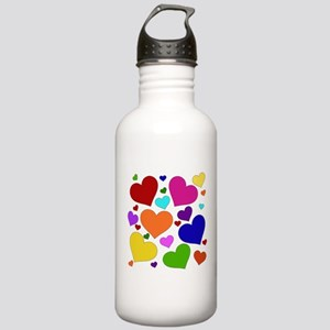 Rainbow Hearts Stainless Water Bottle 1.0L