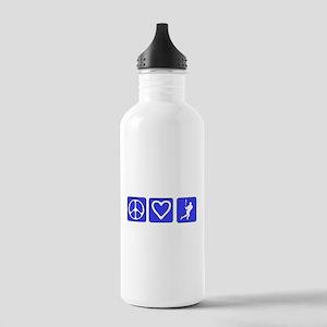 Peace Love Baseball Stainless Water Bottle 1.0L