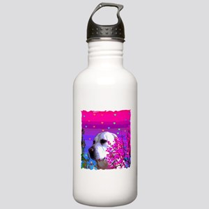 Golden Lab In Flowers Stainless Water Bottle 1.0L