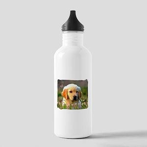 Austin, Retriever Puppy Stainless Water Bottle 1.0