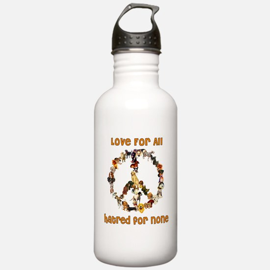 Dogs Of Peace Water Bottle