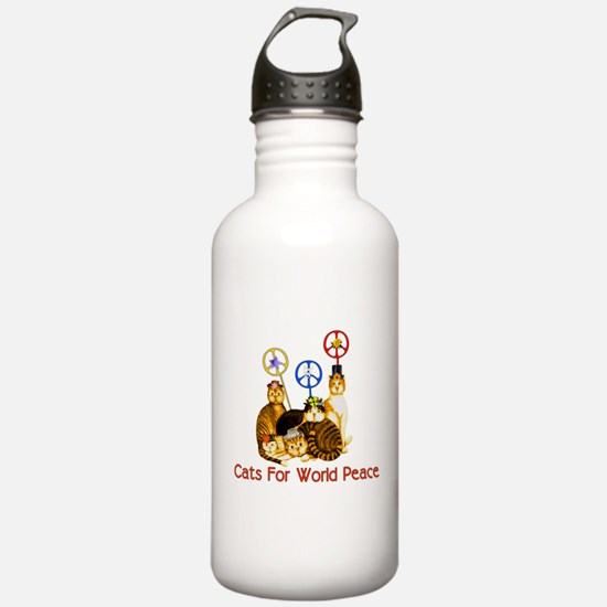 World Peace Cats Water Bottle