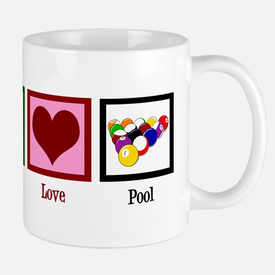 Peace Love Pool Mug