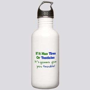 Tires Testicles Trouble Stainless Water Bottle 1.0