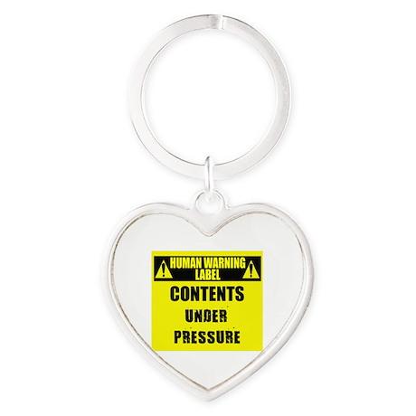 Human warning Label: Under Pressure Keychains