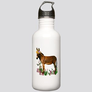Burro in Straw Hat Stainless Water Bottle 1.0L
