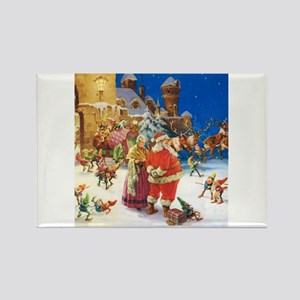 Santa and Mrs. Claus Rectangle Magnet