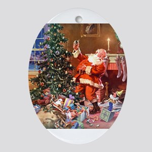 The Night Before Christmas Ornament (Oval)