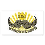 Mustache ride Sticker (Rectangle 50 pk)