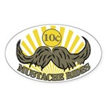 Mustache ride Sticker (Oval 50 pk)