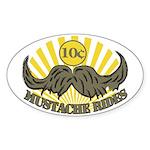 Mustache ride Sticker (Oval 10 pk)