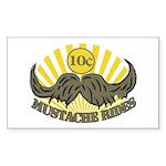 Mustache ride Sticker (Rectangle)