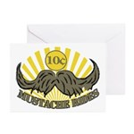 Mustache ride Greeting Cards (Pk of 20)
