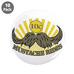 "Mustache ride 3.5"" Button (10 pack)"