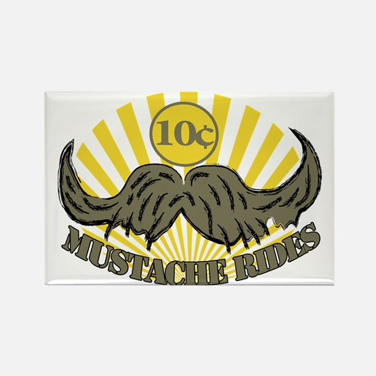 Mustache ride Rectangle Magnet (10 pack)