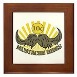 Mustache ride Framed Tile