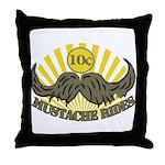 Mustache ride Throw Pillow