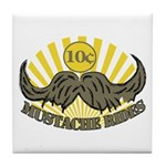 Mustache ride Tile Coaster