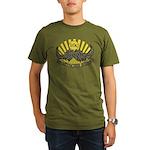 Mustache ride Organic Men's T-Shirt (dark)
