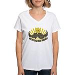 Mustache ride Women's V-Neck T-Shirt