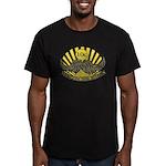 Mustache ride Men's Fitted T-Shirt (dark)