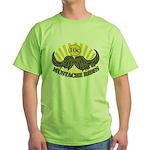 Mustache ride Green T-Shirt
