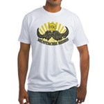 Mustache ride Fitted T-Shirt