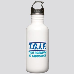 THIS GRANDPA IS FABULOUS! Stainless Water Bottle 1
