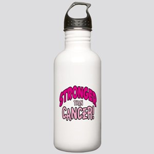 STRONGER THAN CANCER (PINK) Stainless Water Bottle