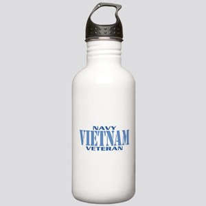 VIETNAM WAR NAVY VETERAN Stainless Water Bottle 1.