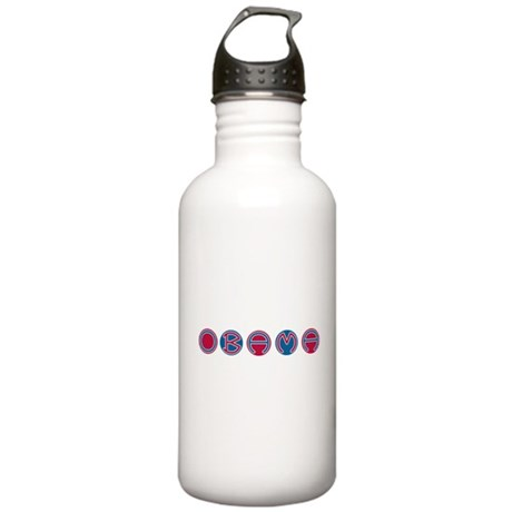 Obama Round Stainless Water Bottle 1.0L