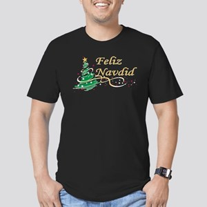 Feliz Navidad Men's Fitted T-Shirt (dark)