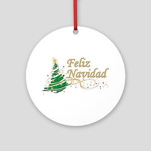 feliz navidad ornament round