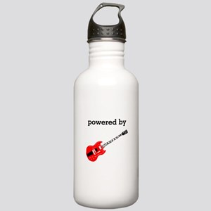 Powered By Electric Guitar Stainless Water Bottle